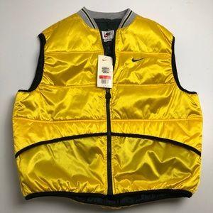 NWT Vintage Nike Gold Yellow Vest Jacket Large